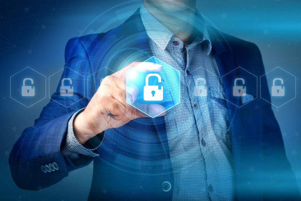 Businessman network security